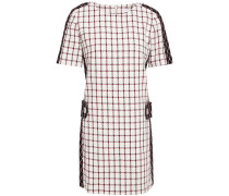 Checked Cotton-blend Tweed Mini Dress