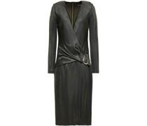 Kleid aus Stretch-strick mit Wickeleffekt