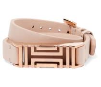 + Fitbit Fret Leather Wrap Bracelet Roségold