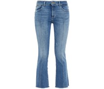 Bridget Halbhohe Cropped Kick-flare-jeans in Distressed-optik
