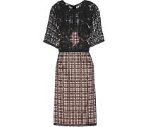 Forest Appliquéd And Embroidered Satin Dress Schwarz