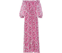 Camila Floral-print Silk-chiffon Maxi Dress Pink
