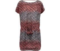 Silvia printed washed-silk mini dress