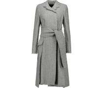 Frayed Tweed Coat Grau