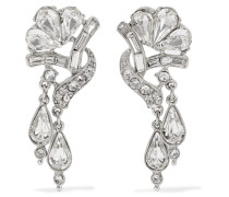 Silver-plated Crystal Earrings Silber