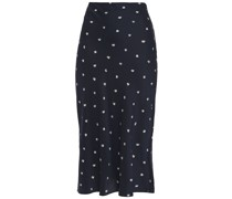 Frances Scribble Printed Silk-twill Midi Skirt