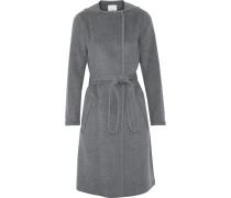 Belted Wool-blend Coat Anthrazit