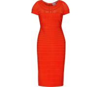 Tania Mesh-paneled Bandage Dress Tomatenrot