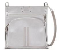 Metallic Textured-leather Shoulder Bag