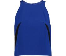 Cropped Stretch-jersey Top Blau
