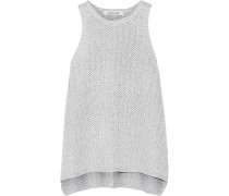 Coated Stretch-knit Tank Silber