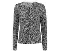 New Ibiza Printed Cotton And Silk-blend Cardigan Schwarz