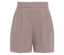 Shorts aus Tweed mit Hahnentrittmuster