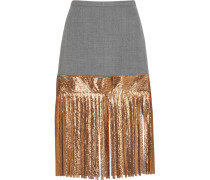 Wool And Metallic Chainmail Skirt Gold