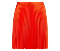 Pleated Satin-twill Mini Skirt