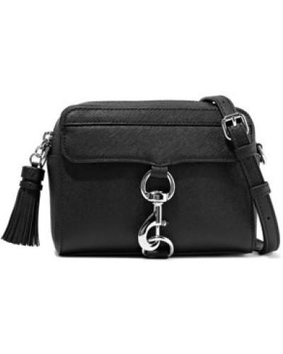 M.a.b. Tasseled Textured-leather Shoulder Bag Black Size --