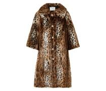 Sorayah Embellished Leopard-print Faux Fur Coat