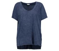 Distressed Cotton T-shirt Navy