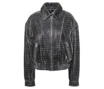Griez Cracked-leather Bomber Jacket