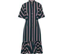 Mermaid Striped Twill Midi Dress