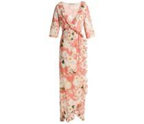 Ruffle-trimmed Floral-print Cotton Maxi Wrap Dress