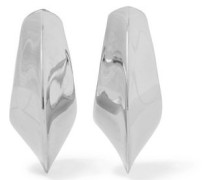 Silver-tone clip earrings