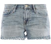 Le Cutoff Distressed Denim Shorts