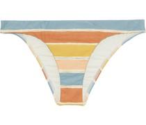 Basic Tief Sitzendes Bikini-höschen mit Streifen