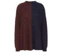 Zweifarbiger Pullover aus Einer Alpakamischung