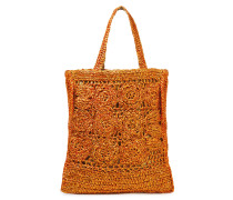 Holy Oversized Crocheted Raffia Tote