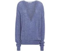 Mélange Cashmere And Silk-blend Sweater