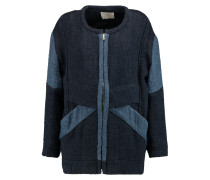 Drystan Two-tone Matelassé Coat Blau
