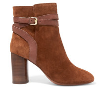 Glenda Baby Buckled Suede Ankle Boots Braun