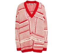 Pullover aus Einer Leinen-baumwollmischung in Patchwork-optik mit Fransen