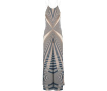 Beam printed silk jumpsuit