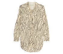 Kanti Printed Silk Crepe De Chine Shirt Ecru