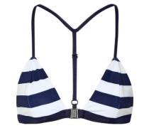 Louis striped triangle bikini top
