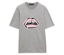 T-shirt aus Baumwoll-jersey mit Pailletten