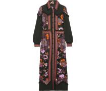 Posey Chiffon-paneled Floral-print Twill Maxi Dress Mehrfarbig