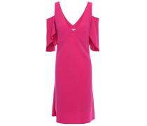 Cold-shoulder Draped Satin-crepe Mini Dress
