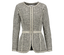 Houndstooth Alpaca And Wool-blend Bouclé Jacket Elfenbein