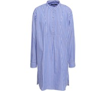 Striped Cotton-poplin Mini Shirt Dress