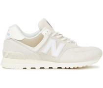 Sneakers aus Veloursleder und Canvas mit Lederbesatz