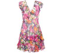 Catia Tiered Floral-print Silk-blend Jacquard Mini Dress
