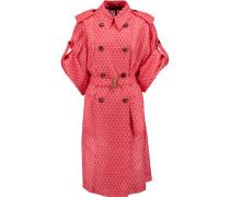 Crochet-knit Belted Coat Pink