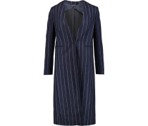Laure Pinstriped Wool Coat Mitternachtsblau