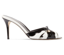 Omelia Cutout Patent-leather Sandals Weiß