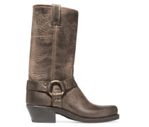 Harness Distressed Leather Boots Braun