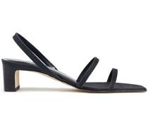 Renata Slingback-sandalen aus Leder mit Glitter-finish