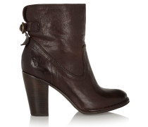 Lara Leather Boots Dark brown
